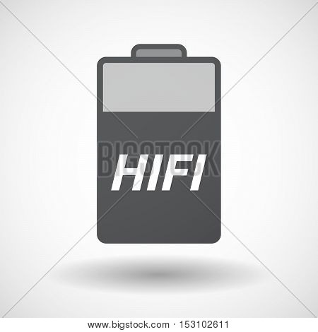 Isolated  Battery Icon With    The Text Hifi