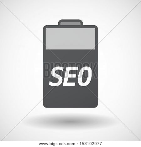 Isolated  Battery Icon With    The Text Seo