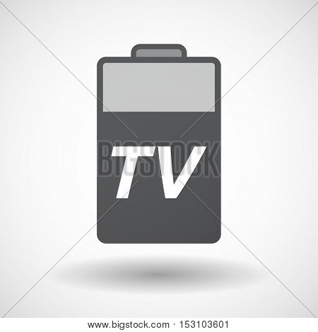Isolated  Battery Icon With    The Text Tv