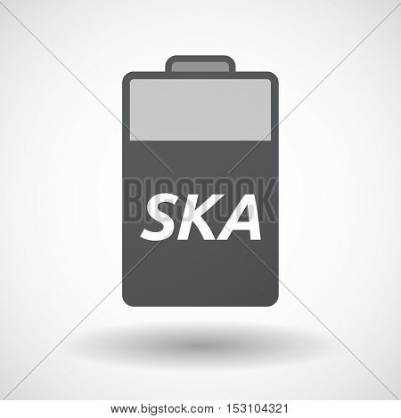 Isolated  Battery Icon With    The Text Ska