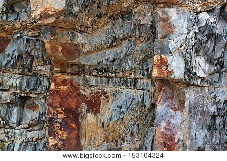 geological layers of earth - layered rock background