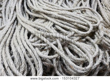 Many Skeins Of Raw Rope For Sale