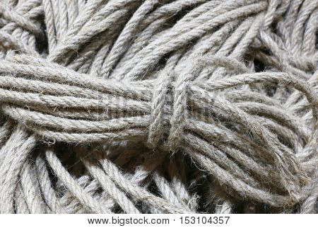 Background Of Many Skeins Of Raw Cord Fabric