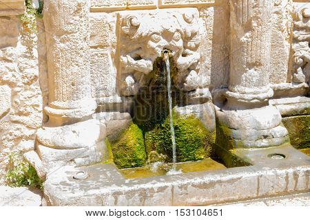 The Rimondi Fountain In Rethymno, Crete, Greece.