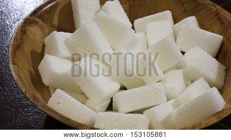 Lumps Of Refined White Sugar