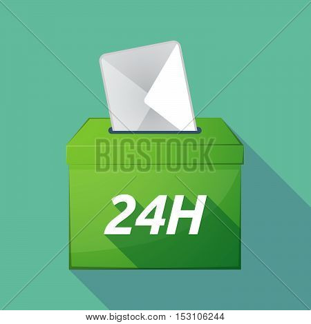 Long Shadow Ballot Box With    The Text 24H