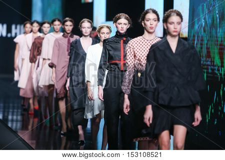 Bipa Fashion.hr Fashion Show: Martina Budek, Zagreb, Croatia.
