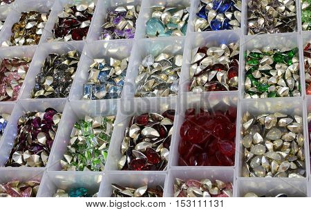 Boxes With Tiaras And Stones For Sale In Haberdashery
