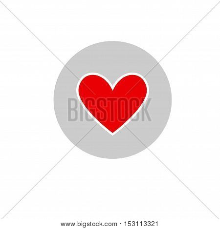 hart love icon vector on gray background