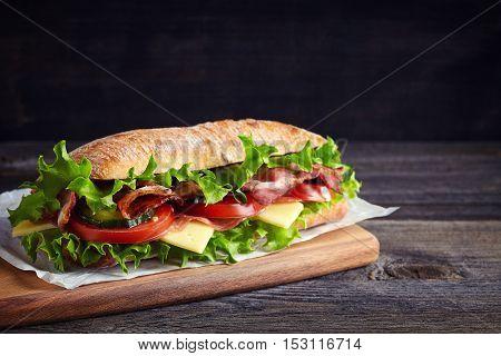 Fresh Submarine Sandwich