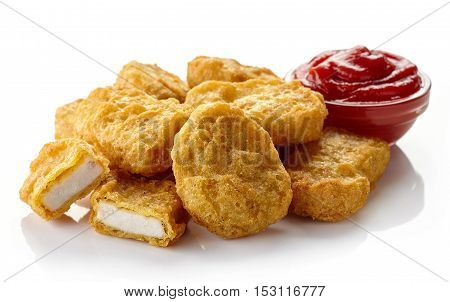Chicken Nuggets And Ketchup