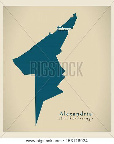 Modern Map - Alexandria EG vector high res