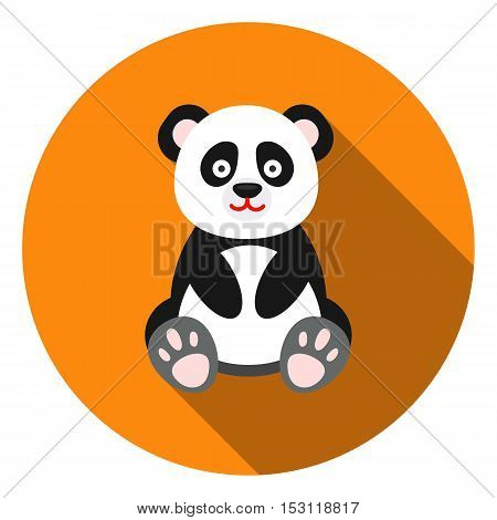Panda icon in flat style isolated on white background. Animals symbol vector illustration.