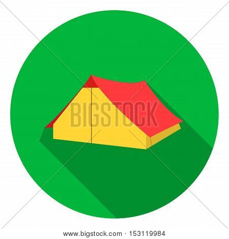 Tourist tent icon in flat style isolated on white background. Camping symbol vector illustration.