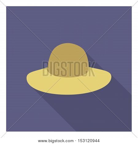 Hat icon in flat style isolated on white background. Clothes symbol vector illustration.