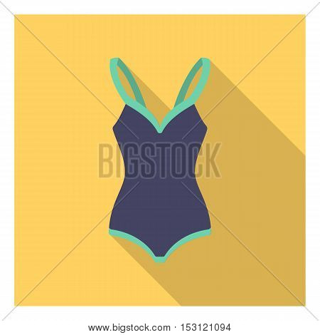 Swimsuit icon in flat style isolated on white background. Clothes symbol vector illustration.