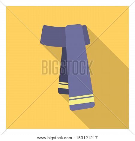 Scarf icon in flat style isolated on white background. Clothes symbol vector illustration.