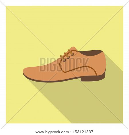 Men shoes icon in flat style isolated on white background. Clothes symbol vector illustration.