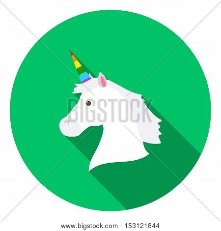 Unicorn icon in flat style isolated on white flat. Gay symbol vector illustration.