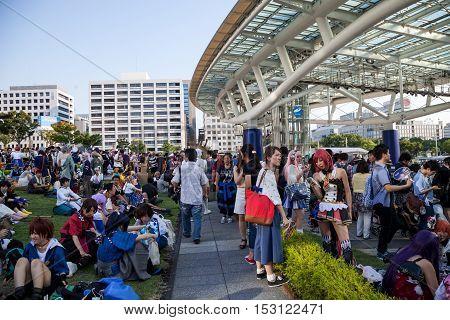NAGOYA, JAPAN- August 07, 2016: World cosplay summit 2016 in Nagoya Japan.