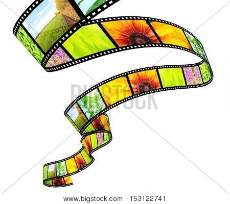 Filmstrip. Object isolated on white background. 3d render