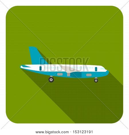 Airplane icon in flat style isolated on white background. Logistic symbol vector illustration.