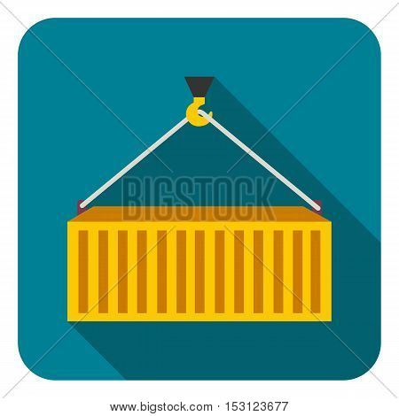 Container icon in flat style isolated on white background. Logistic symbol vector illustration.