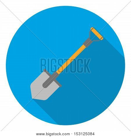 Shovel icon in flat style isolated on white background. Mine symbol vector illustration.