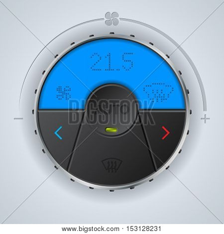 Air condition gauge with blue lcd display and three buttons