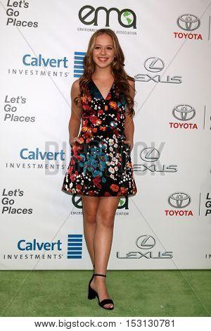 LOS ANGELES - OCT 22:  Holly Barrett at the 26th Annual Environmental Media Awards at Warner Brothers Studio on October 22, 2016 in Burbank, CA