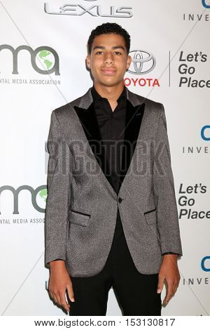 LOS ANGELES - OCT 22:  Marcus Scribner at the 26th Annual Environmental Media Awards at Warner Brothers Studio on October 22, 2016 in Burbank, CA