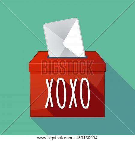Long Shadow Ballot Box With    The Text Xoxo