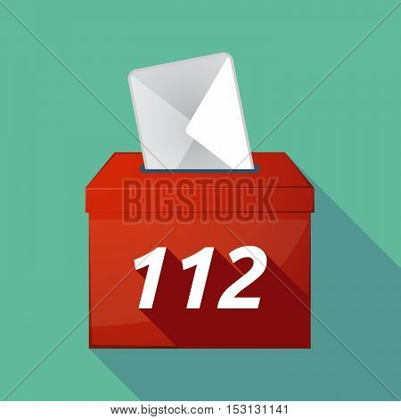 Long Shadow Ballot Box With    The Text 112