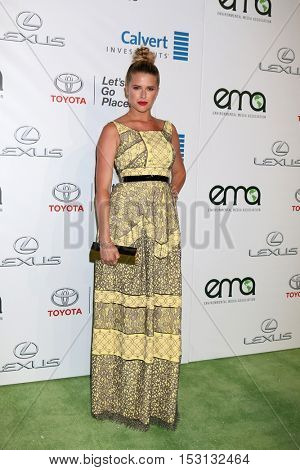 LOS ANGELES - OCT 22:  Sarah Wright Olsen at the 26th Annual Environmental Media Awards at Warner Brothers Studio on October 22, 2016 in Burbank, CA