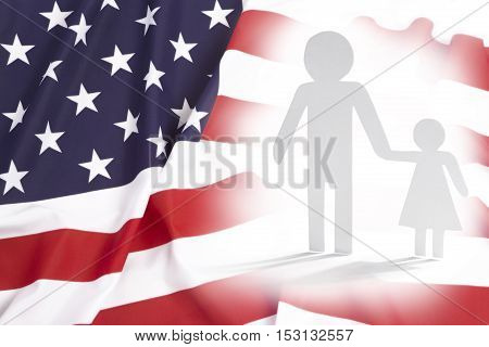 Single parent father with daughter in the United States