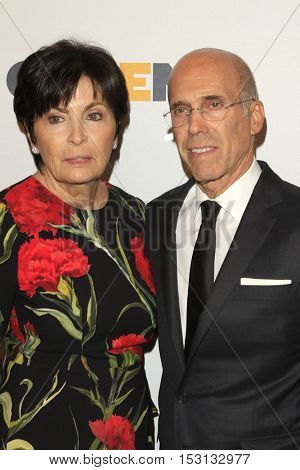 LOS ANGELES - OCT 21:  Marilyn Katzenberg, Jeffrey Katzenberg at the 2016 GLSEN Respect Awards at Beverly Wilshire Hotel on October 21, 2016 in Beverly Hills, CA