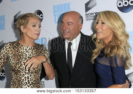 LOS ANGELES - SEP 23:  Barbara Corcoran, Kevin O'Leary, Lori Greiner at the