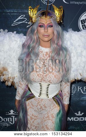 LOS ANGELES - OCT 22:  Aubrey O'Day at the 2016 Maxim Halloween Party at Shrine Auditorium on October 22, 2016 in Los Angeles, CA