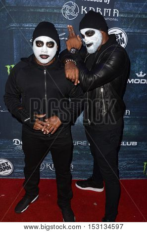 LOS ANGELES - OCT 22:  Daymond John, Tyson Beckford at the 2016 Maxim Halloween Party at Shrine Auditorium on October 22, 2016 in Los Angeles, CA