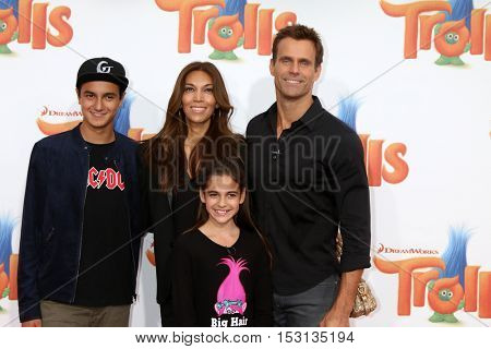 LOS ANGELES - OCT 23:  Lucas Arthur Mathison, Vanessa Arevalo, Leila Emmanuelle Mathison, Cameron Mathison at the Trolls Premiere at Village Theater on October 23, 2016 in Westwood, CA