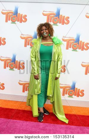LOS ANGELES - OCT 23:  GloZell Lyneette Simon at the Trolls Premiere at Village Theater on October 23, 2016 in Westwood, CA