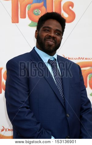 LOS ANGELES - OCT 23:  Ron Funches at the Trolls Premiere at Village Theater on October 23, 2016 in Westwood, CA