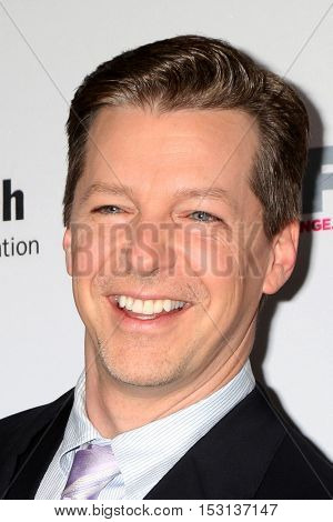 LOS ANGELES - OCT 23:  Sean Hayes at the 2016 Outfest Legacy Awards at Vibiana on October 23, 2016 in Los Angeles, CA