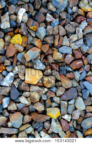 gravel aggregate on floor abstract background .