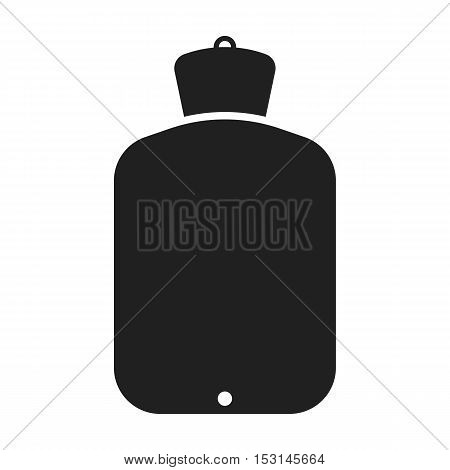 Warmer icon in black style isolated on white background. Medicine and hospital symbol vector illustration.
