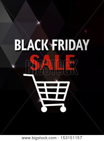 Abstract background for Black Friday sale. Black geometric background.
