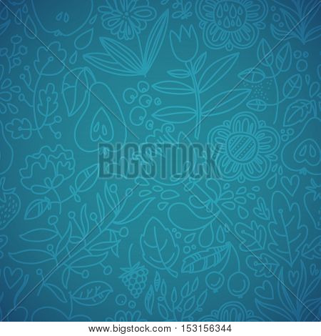 Stylish floral seamless vector background. Vintage floral seamless pattern. Vector. Seamless texture with flowers. Endless floral pattern.Wallpaper with leaves