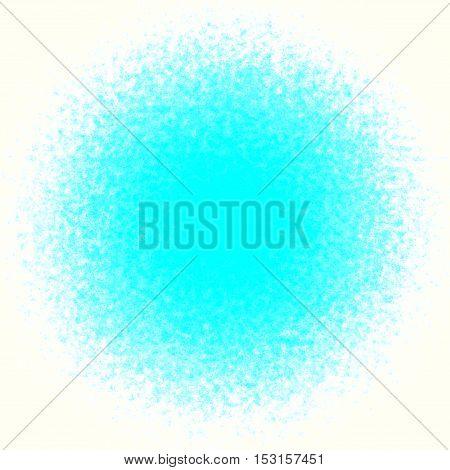 Circle cyan blue and regular splash sphere
