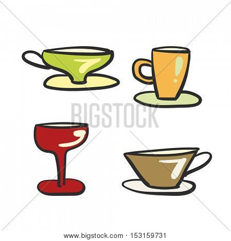 beverage glassware set doodle