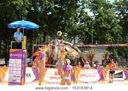 Legionowo Poland - May 28 2015 - one of the tournaments within the Polish championship in volleyball